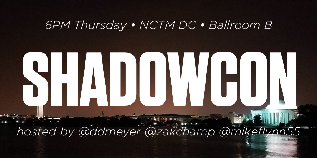 ShadowCon will be at 6PM on Thursday in Ballroom B.
