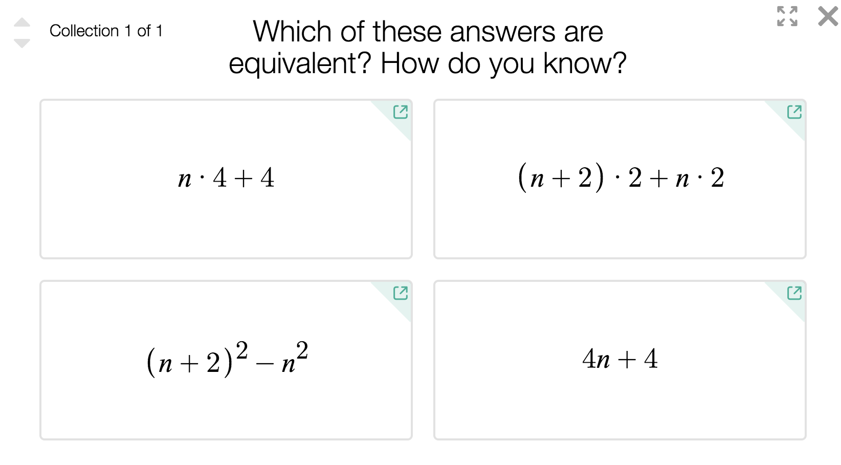 Which of these answers are equivalent? How do you know?