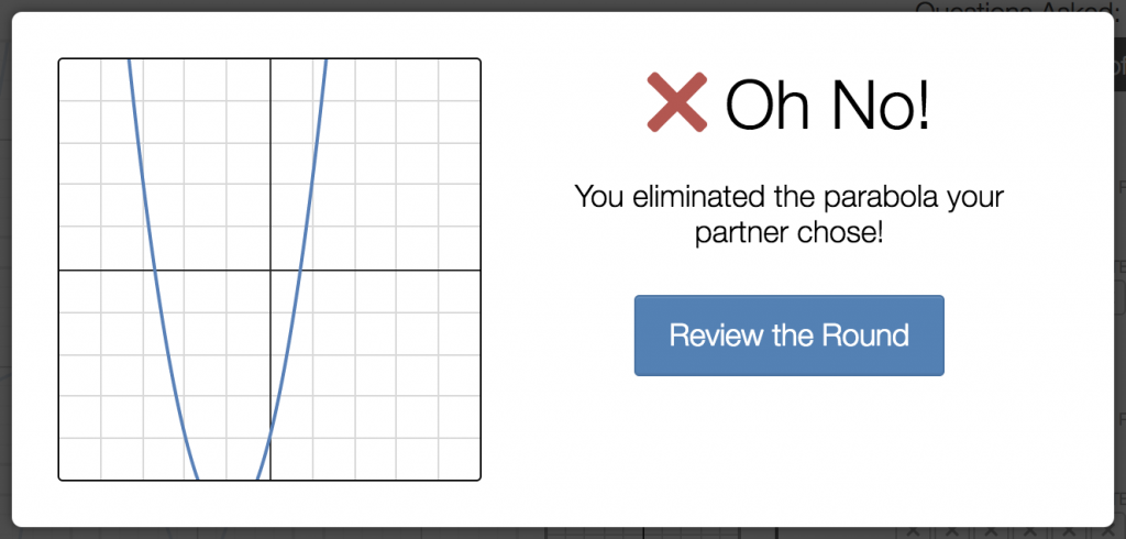 """oh no! you eliminated your partner's parabola!"""