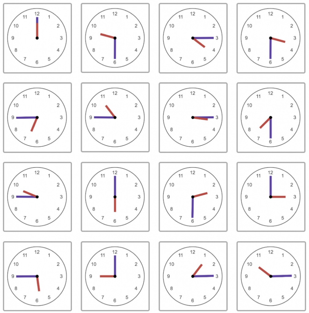 16 clock faces