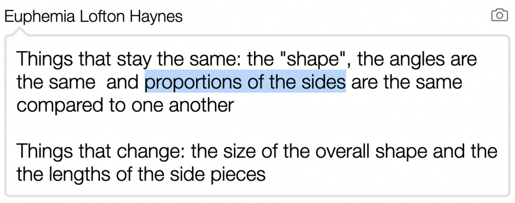 A response that has a lot of formal mathematical language.